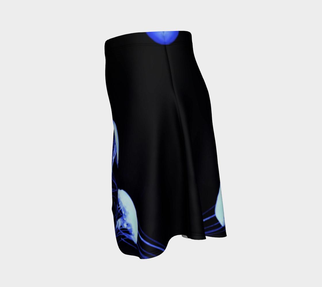 Black light Reactive Jellyfish Accent Skater Skirt preview #2