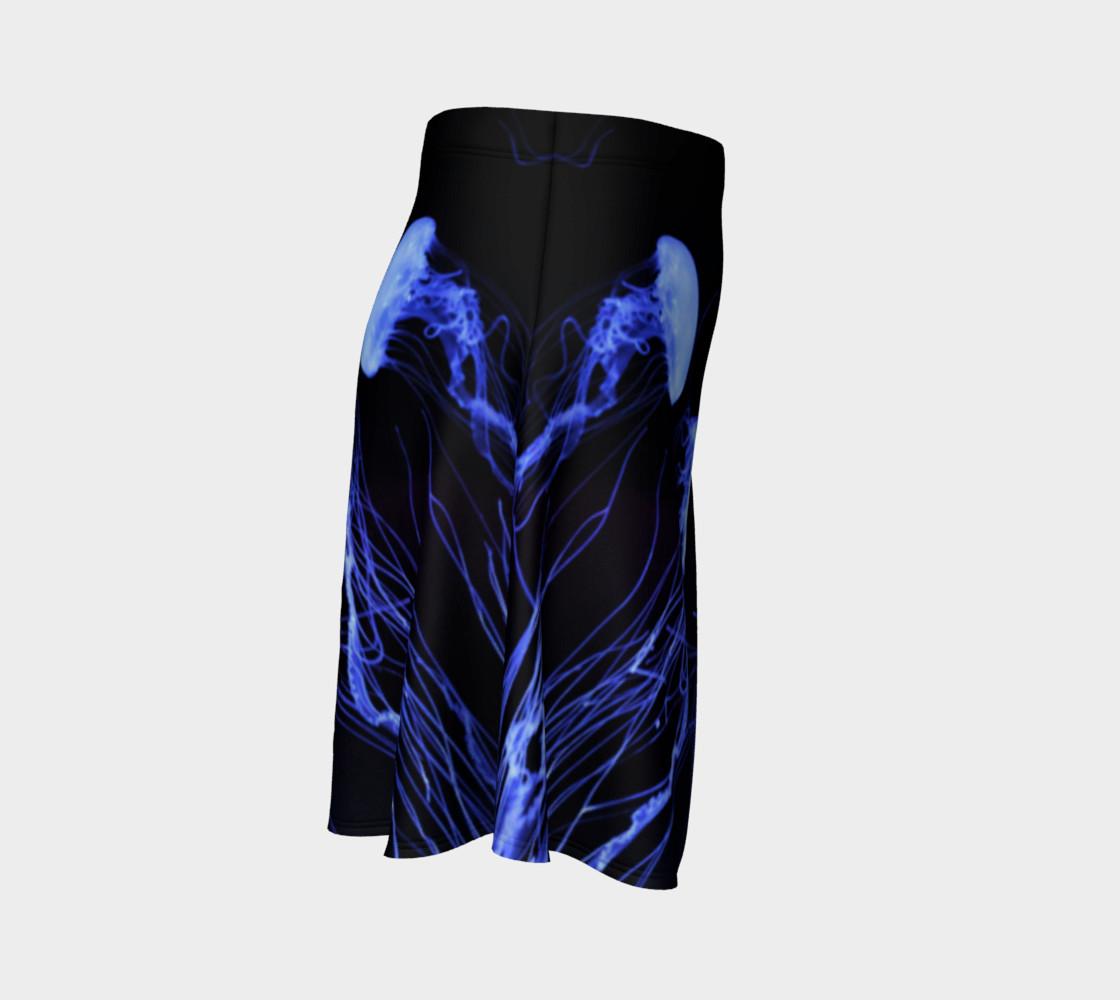Black light Reactive Jellyfish Accent Skater Skirt preview #3