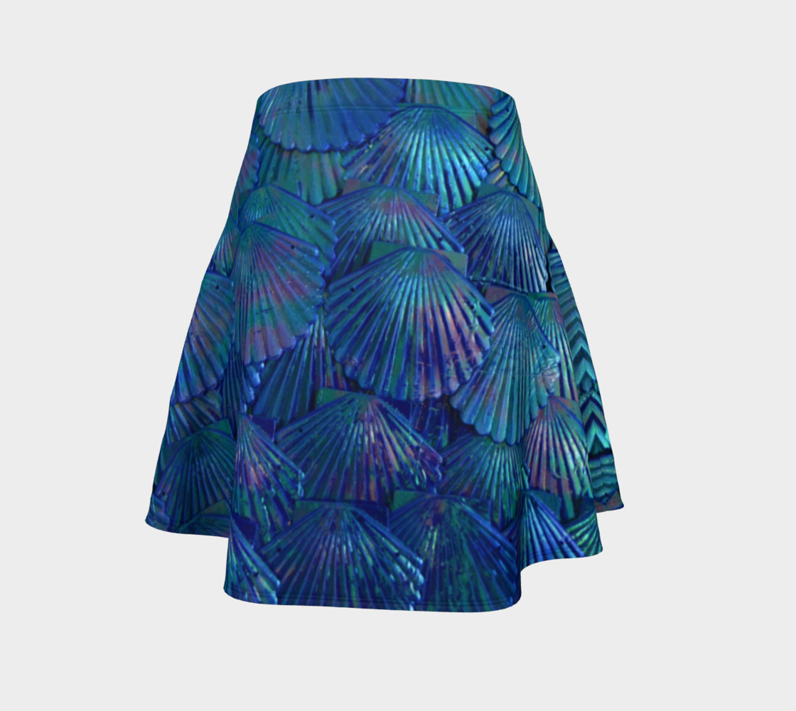 Blue Large-Scale Mermaid Skater Skirt  preview #4