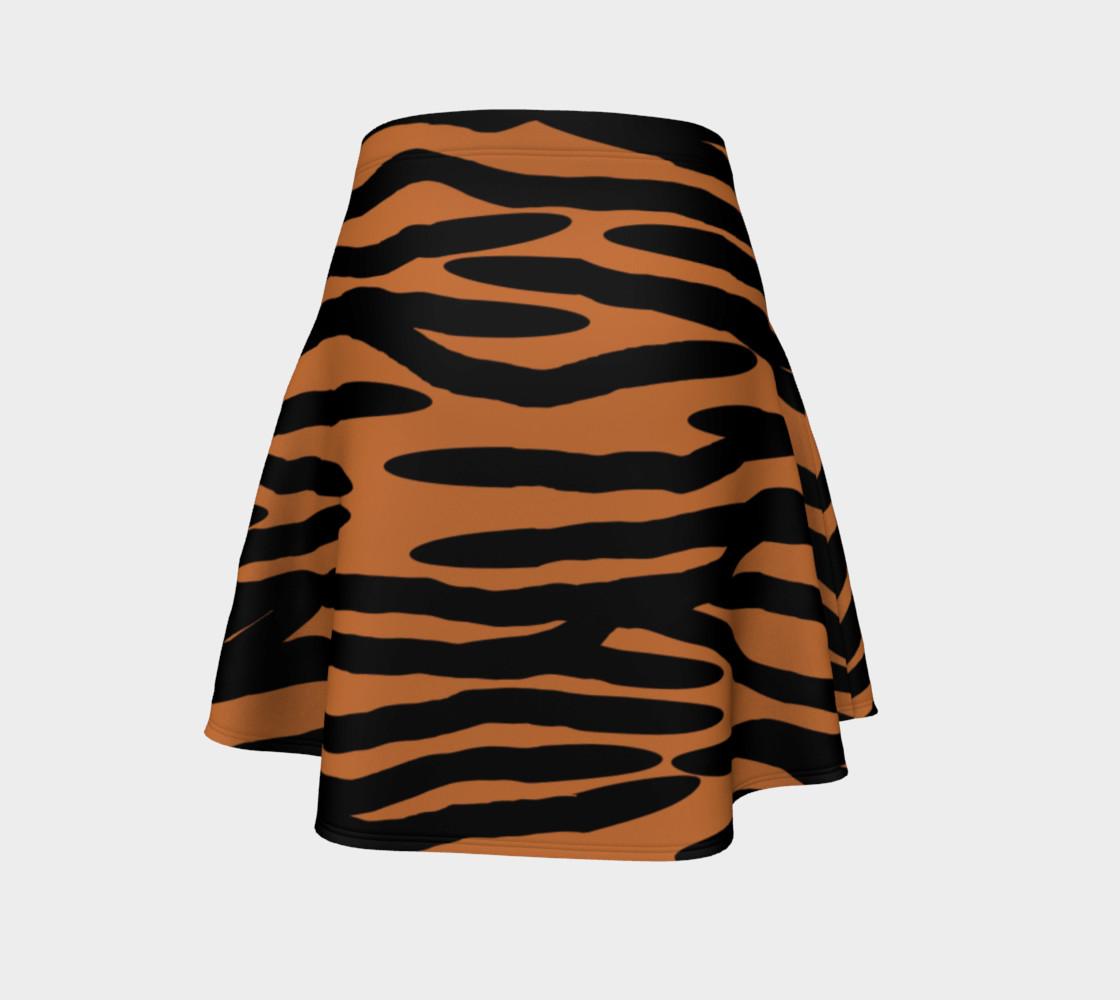 Aperçu de Tiger Skin Pattern Flare Skirt #4