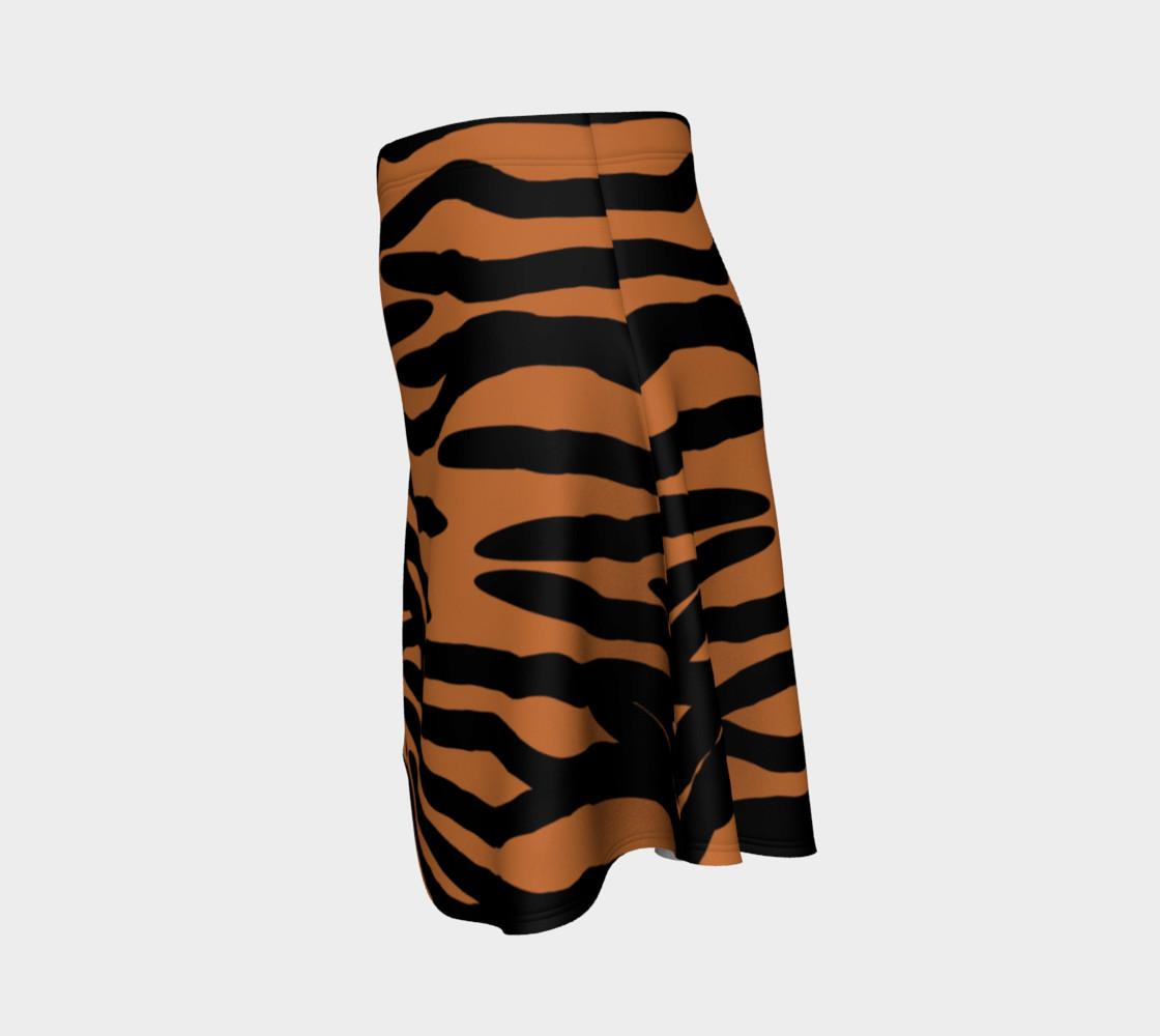Aperçu de Tiger Skin Pattern Flare Skirt #2