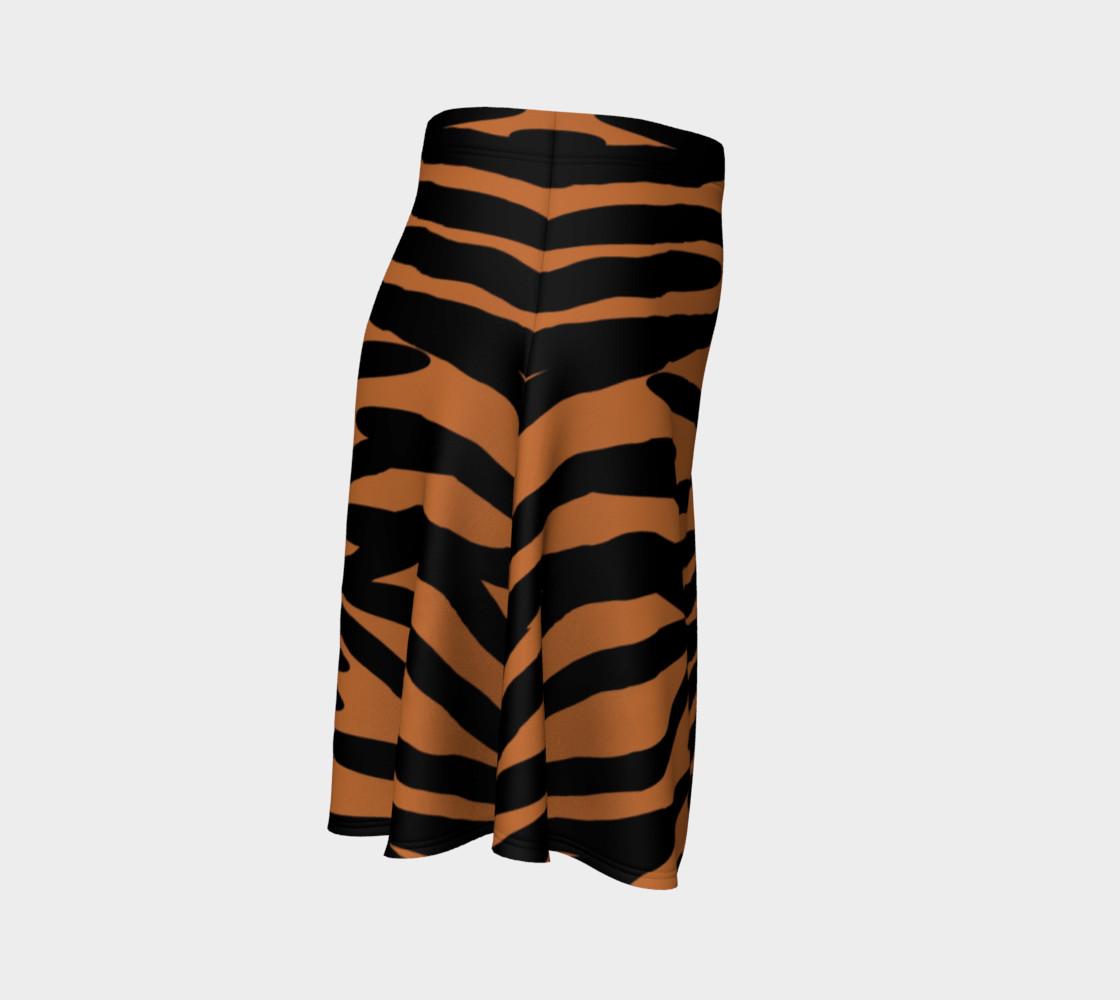 Aperçu de Tiger Skin Pattern Flare Skirt #3