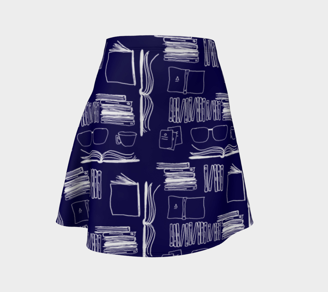 Why Not Just Read - Flare Skirt Miniature #2