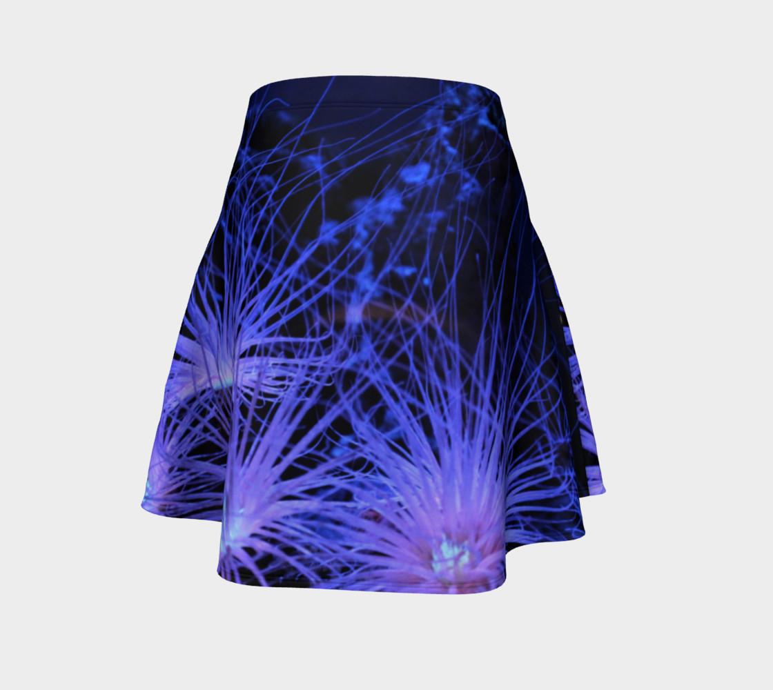Anemone Splash Black Light Skater Skirt preview #4