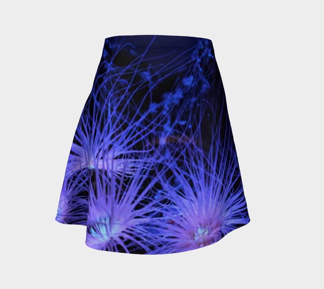Anemone Splash Black Light Skater Skirt preview #1