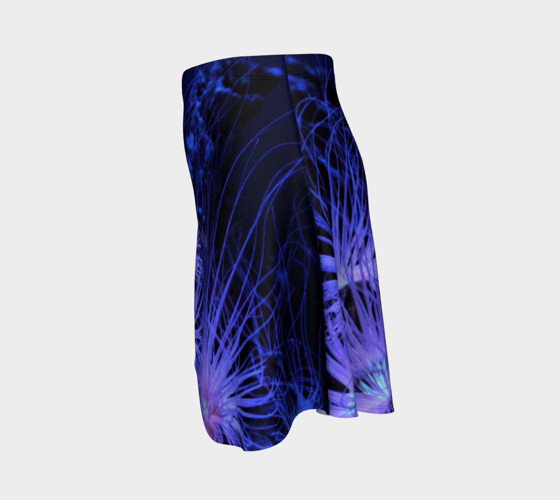 Anemone Splash Black Light Skater Skirt preview #2