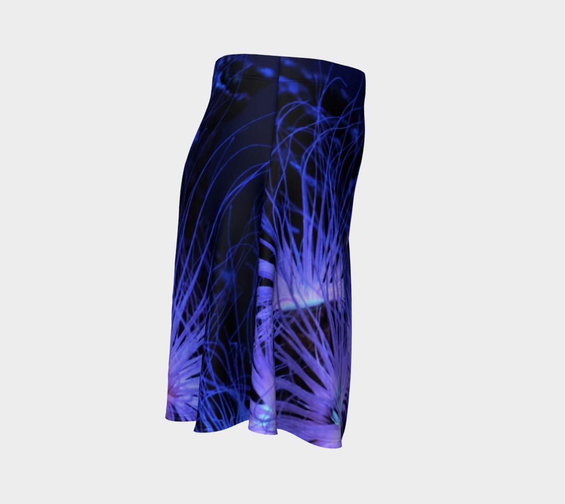 Anemone Splash Black Light Skater Skirt preview #3