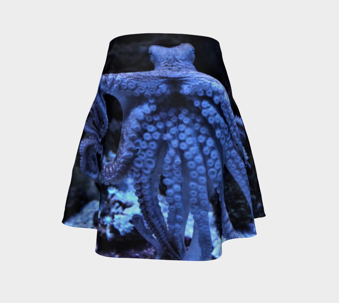 Dark Octopus Black light Skater Skirt preview #4