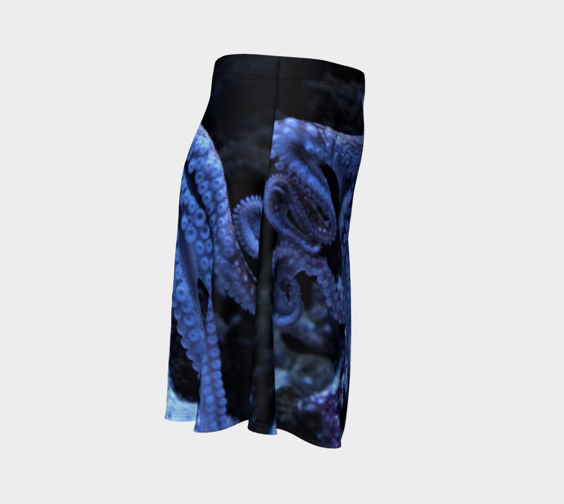 Dark Octopus Black light Skater Skirt preview #3