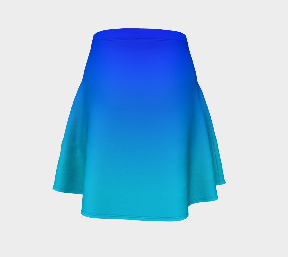 Blue Fading Flare Skirt preview #4