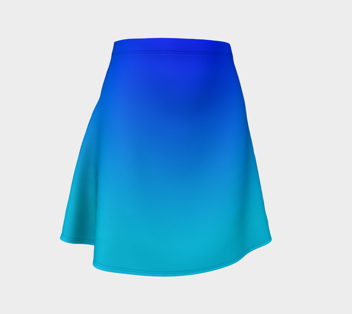 Blue Fading Flare Skirt preview #1