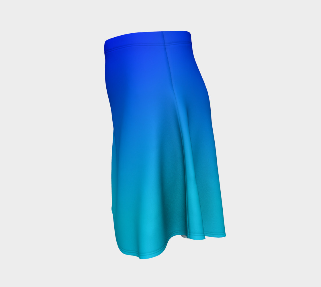 Blue Fading Flare Skirt preview #2