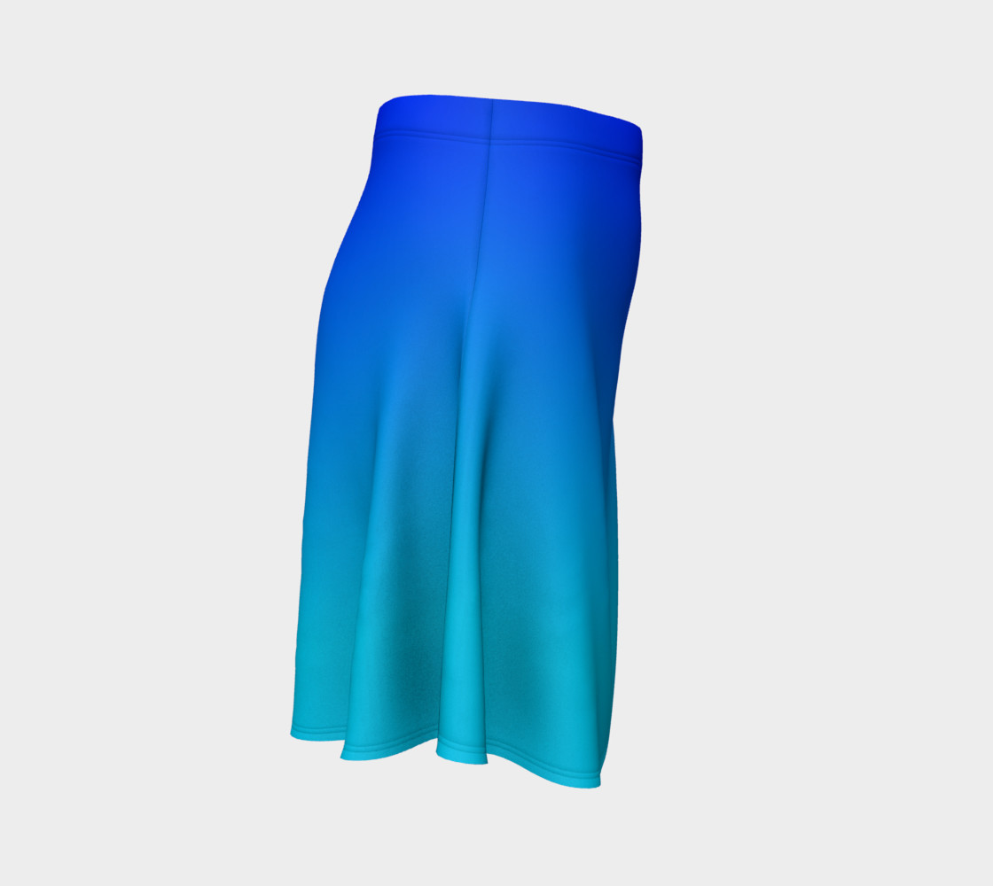 Blue Fading Flare Skirt preview #3