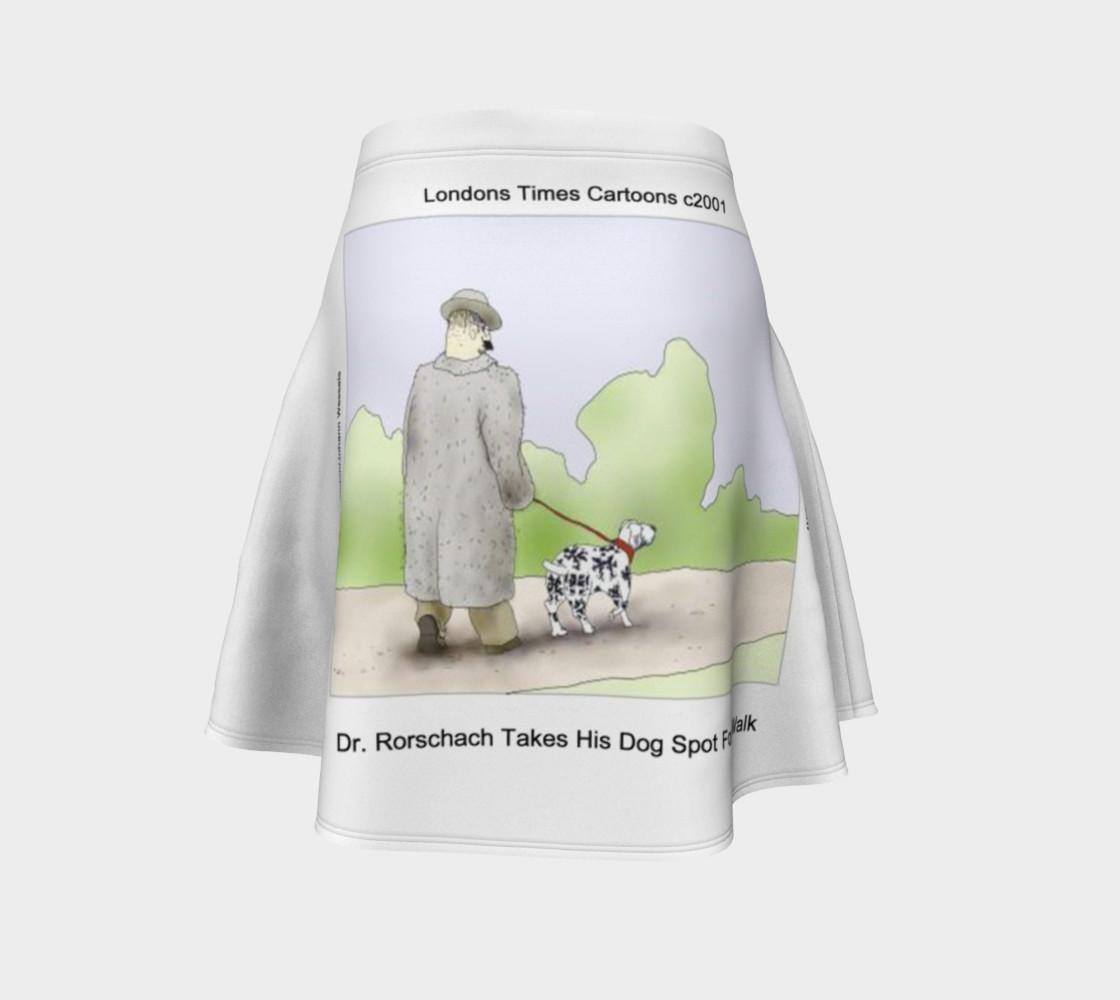 Fun Rorschach's Dog Spot Flair Skirt  preview #4