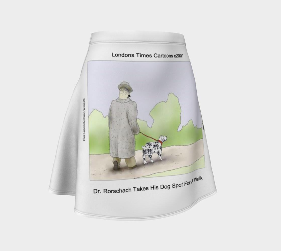 Fun Rorschach's Dog Spot Flair Skirt  preview #1