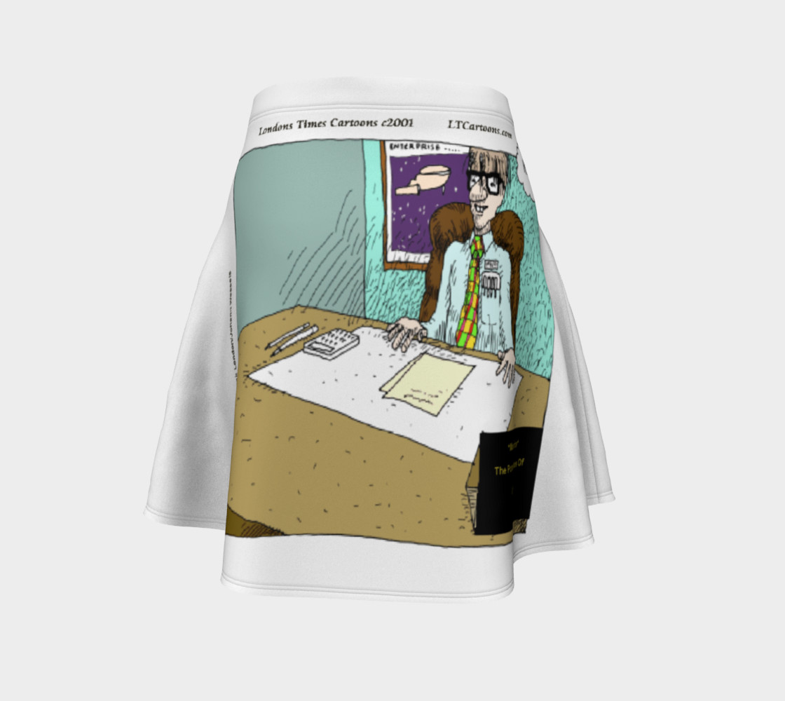Pompatus Of Love Funny Cartoon Flair Skirt by Rick London preview #4