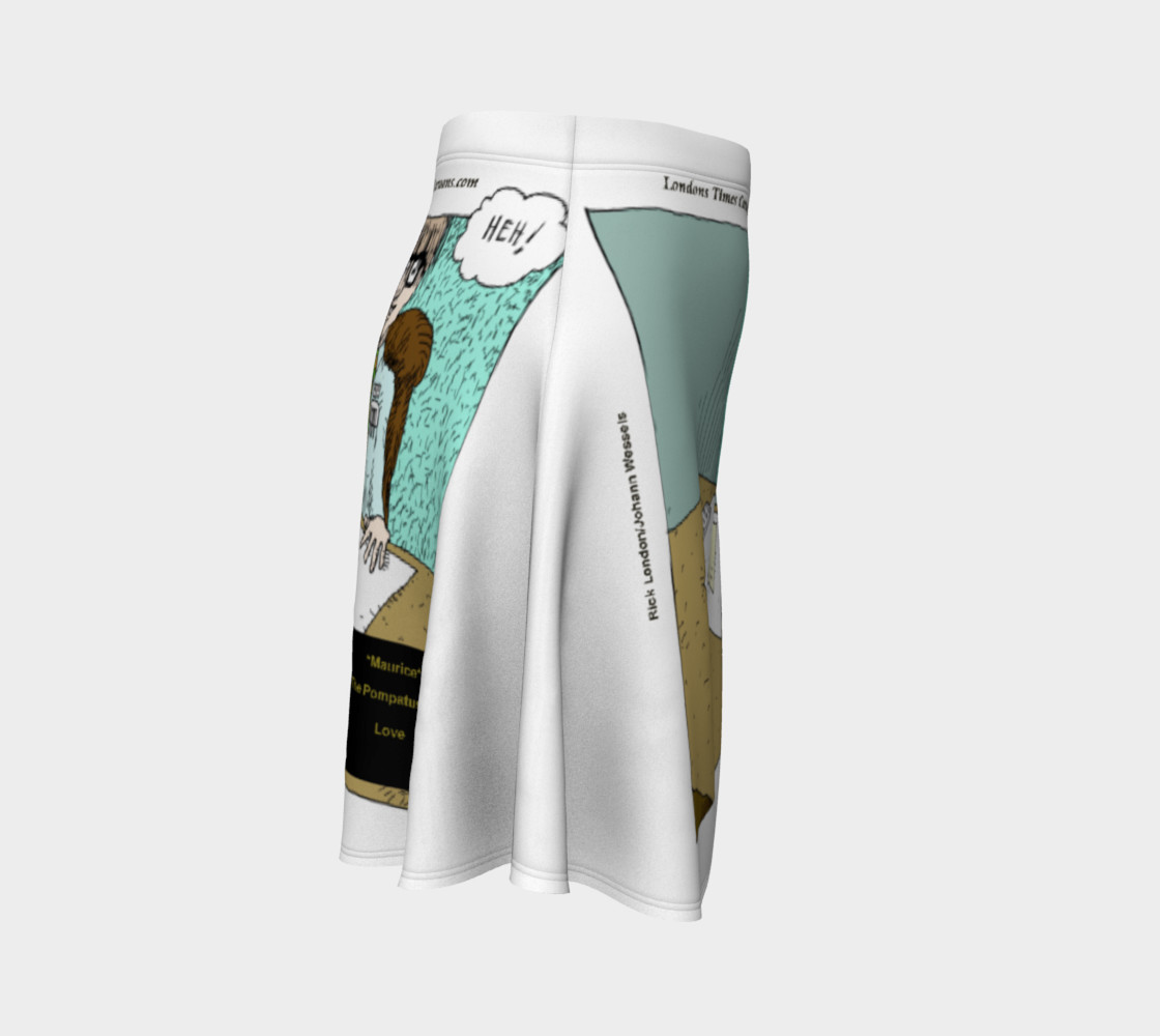 Pompatus Of Love Funny Cartoon Flair Skirt by Rick London preview #3