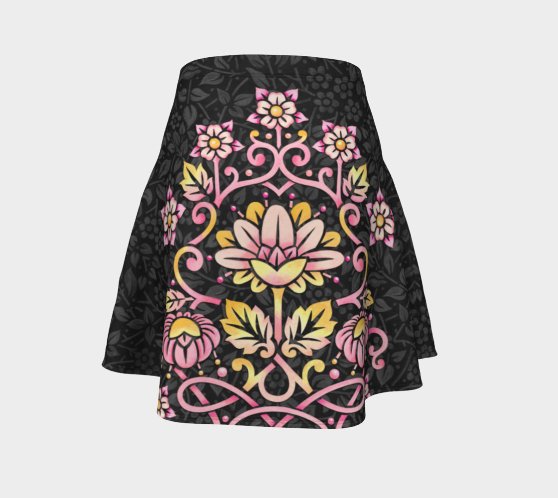Rose Damask Flare Skirt preview #4