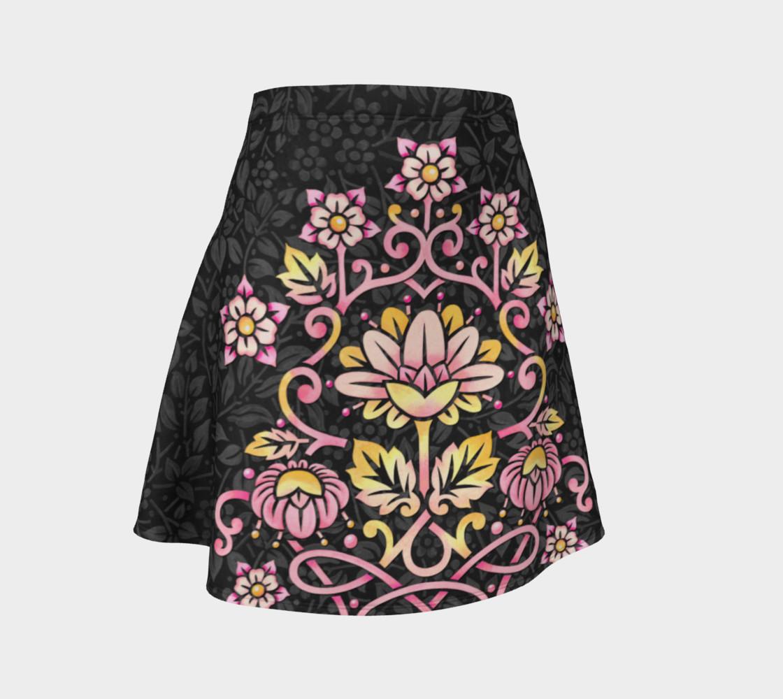 Rose Damask Flare Skirt preview #1