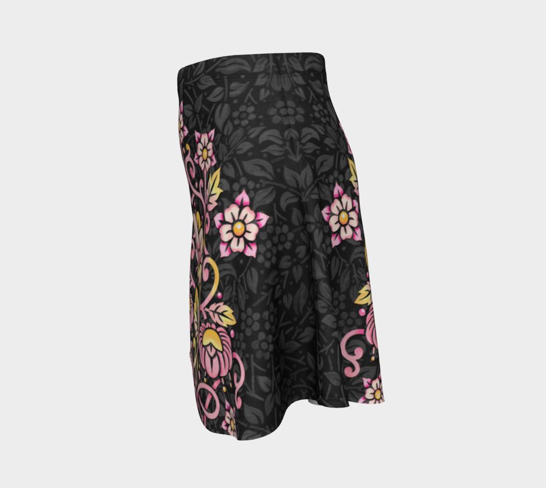 Rose Damask Flare Skirt preview #2