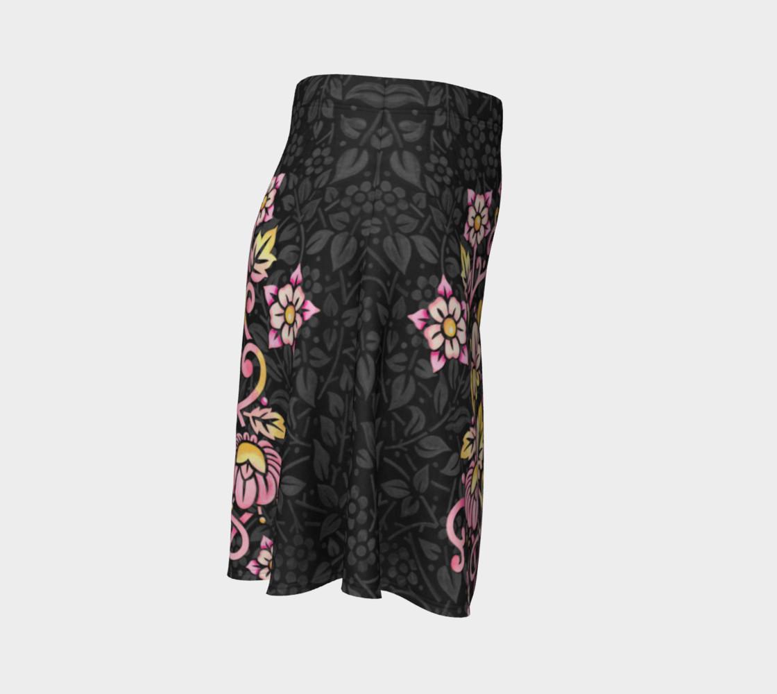 Rose Damask Flare Skirt preview #3