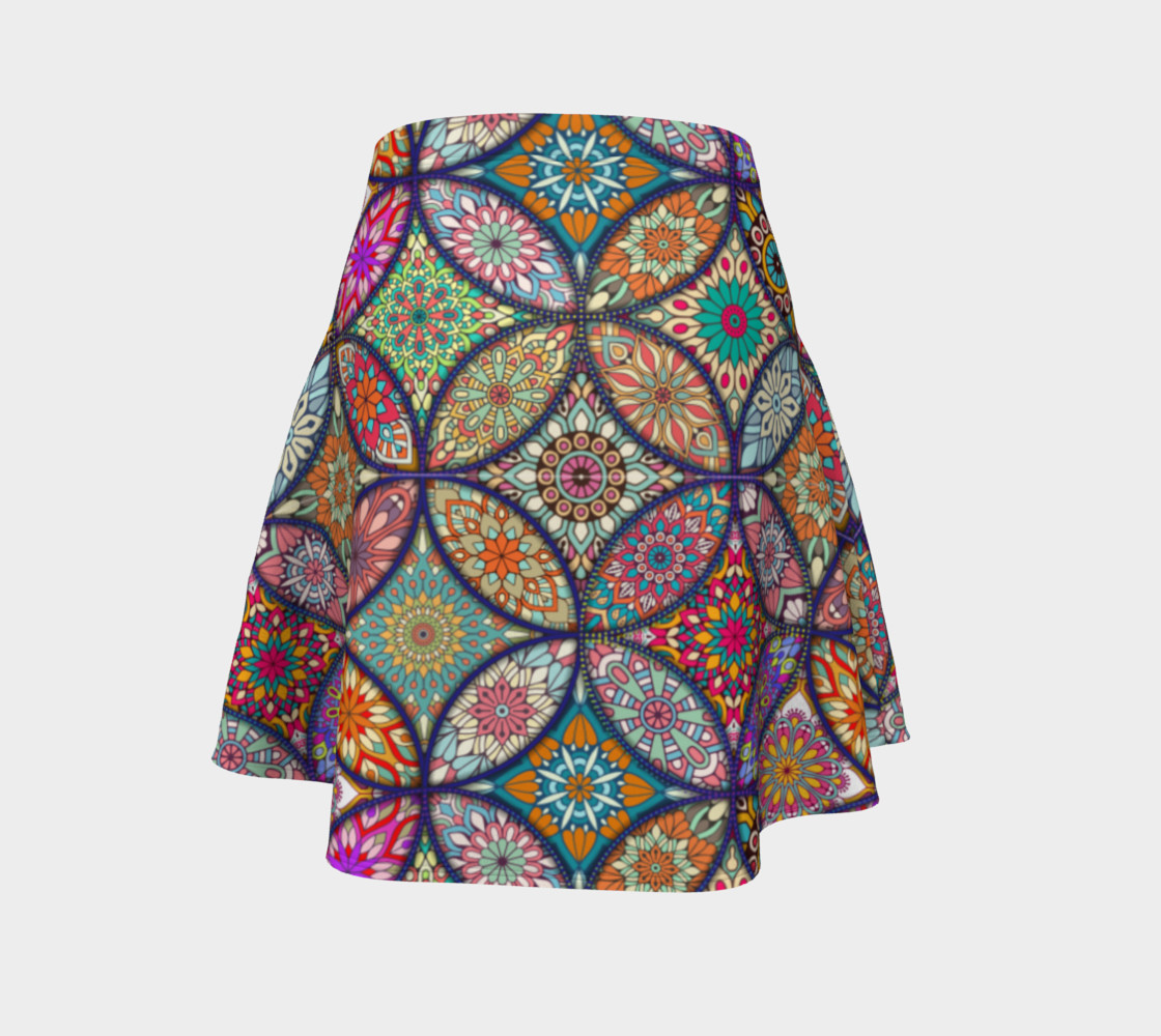Vibrant Mandalas Flare Skirt preview #4