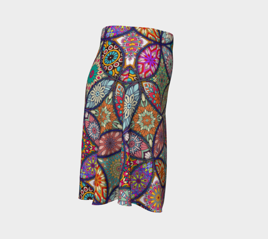 Vibrant Mandalas Flare Skirt preview #3