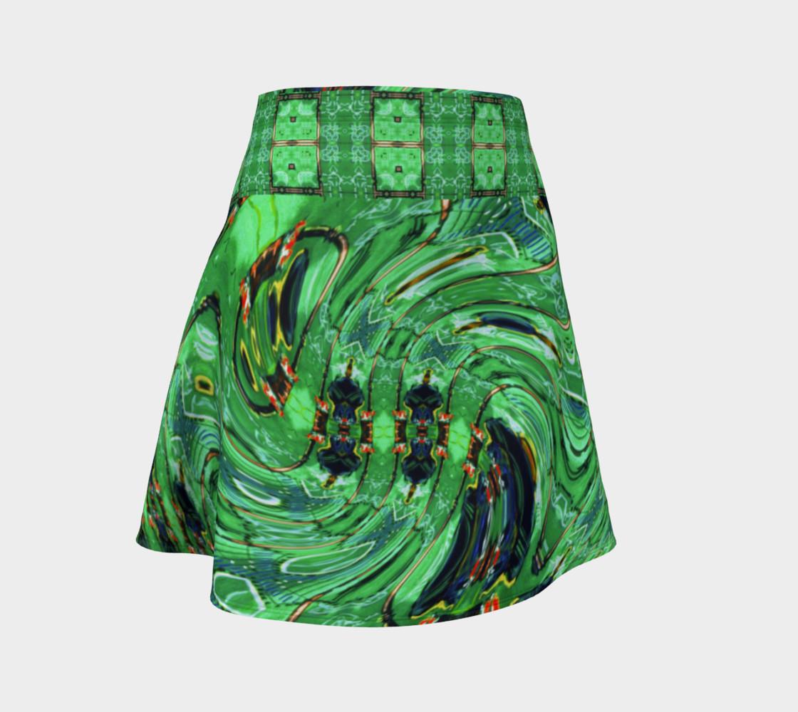 Aperçu de Kansas Green Tornado Flare Skirt #1