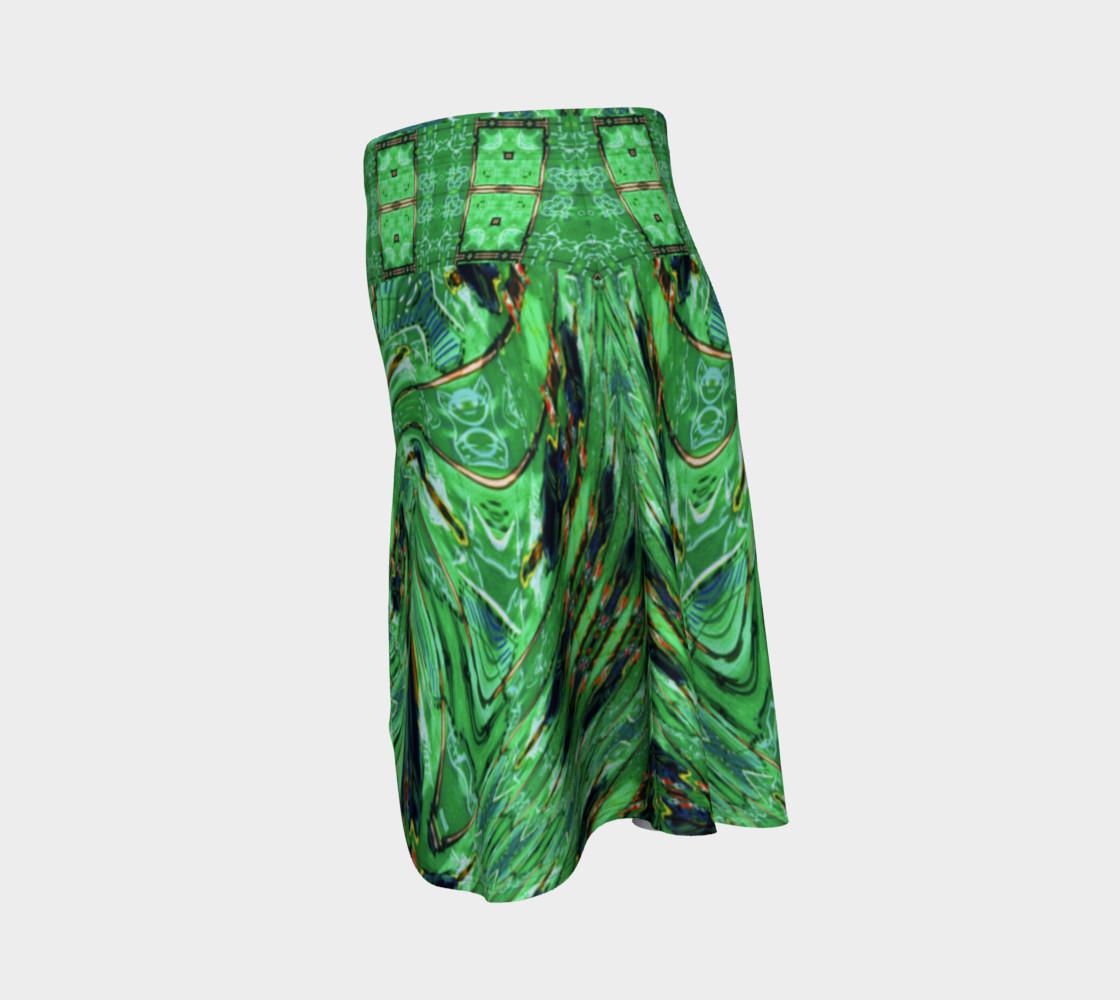Aperçu de Kansas Green Tornado Flare Skirt #2