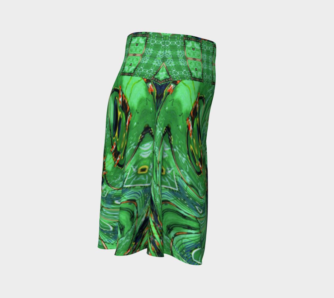 Aperçu de Kansas Green Tornado Flare Skirt #3