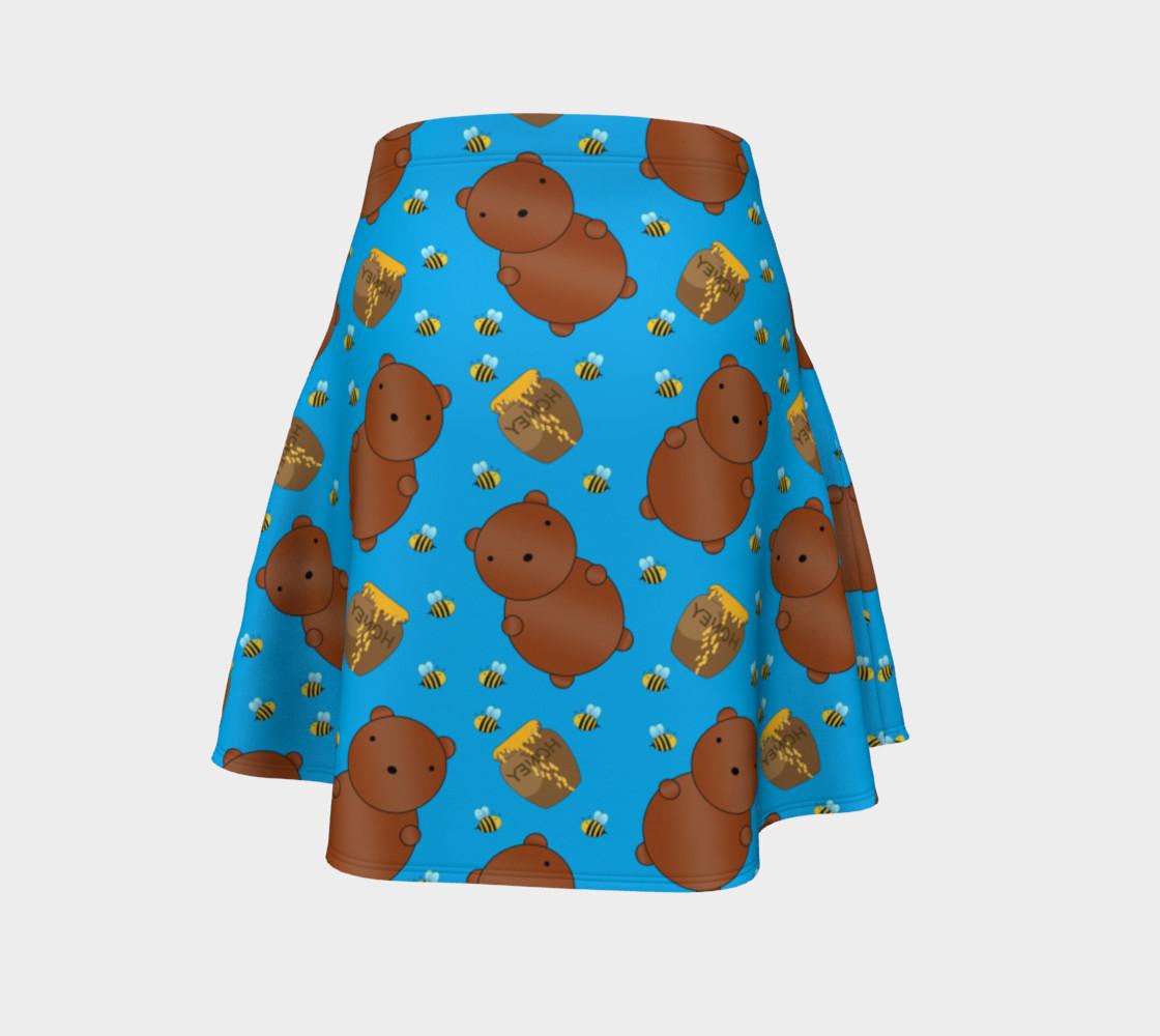 Sky blue bears honey pots bees skirt preview #4
