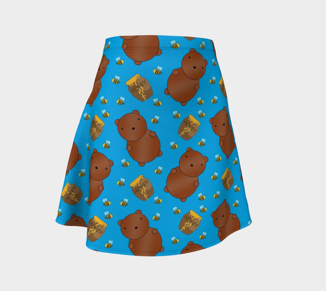 Sky blue bears honey pots bees skirt preview #1
