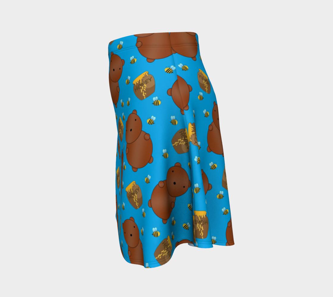 Sky blue bears honey pots bees skirt preview #2