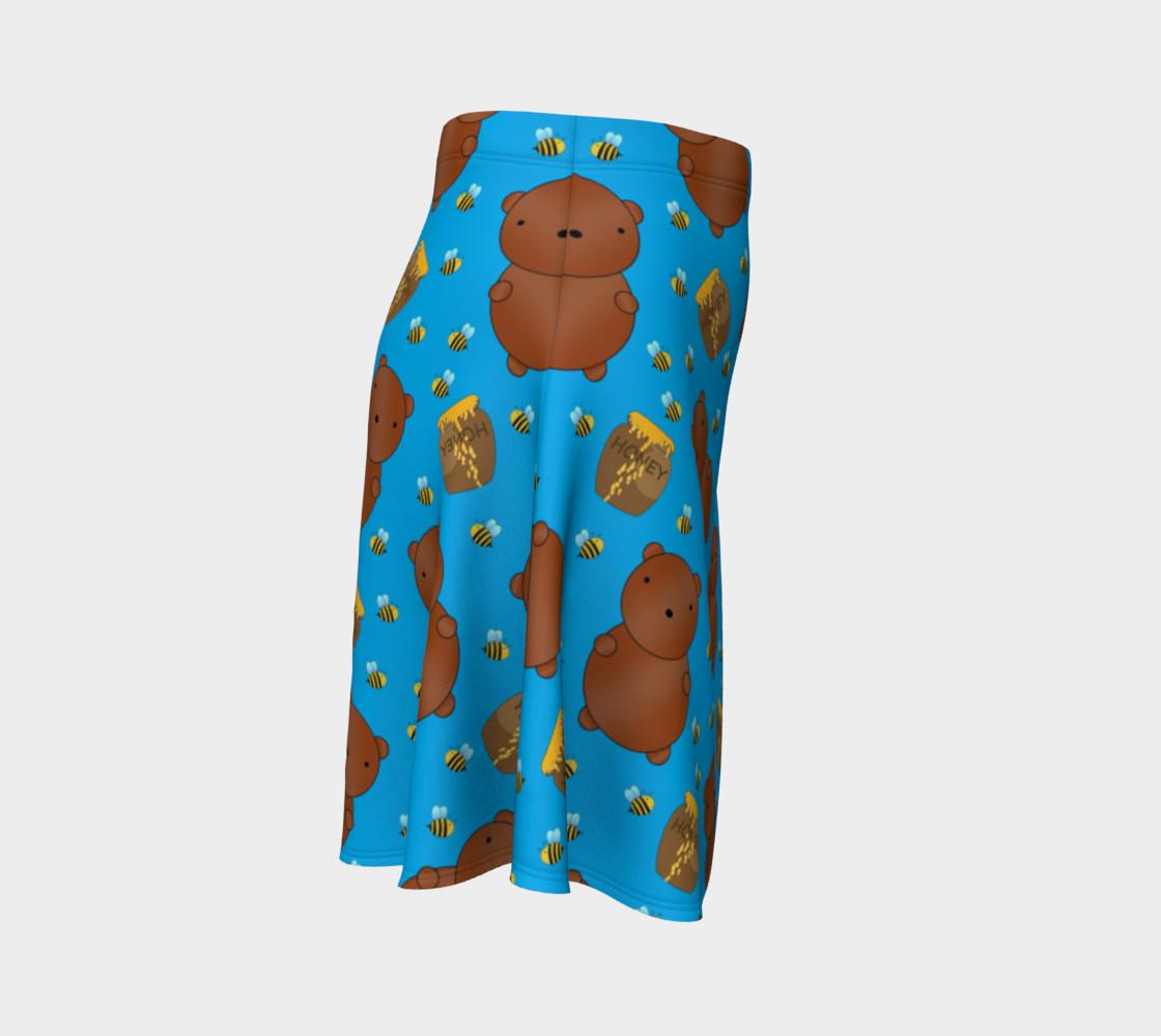 Sky blue bears honey pots bees skirt preview #3