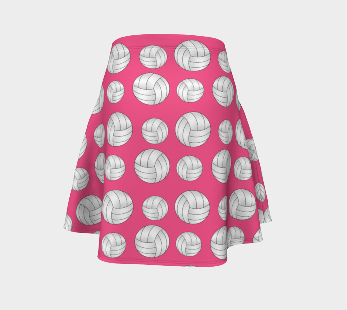 Pink volleyball skirt preview #4