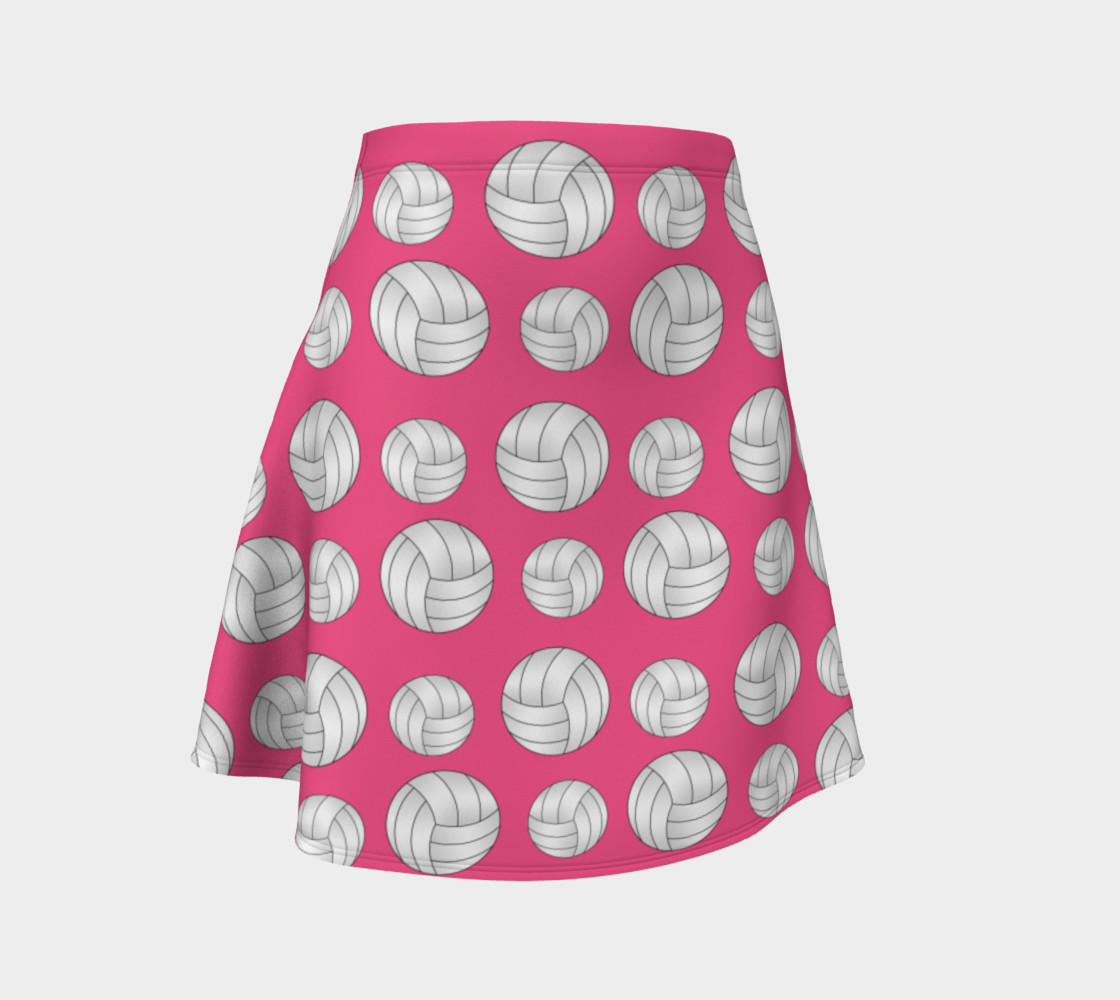 Pink volleyball skirt preview #1