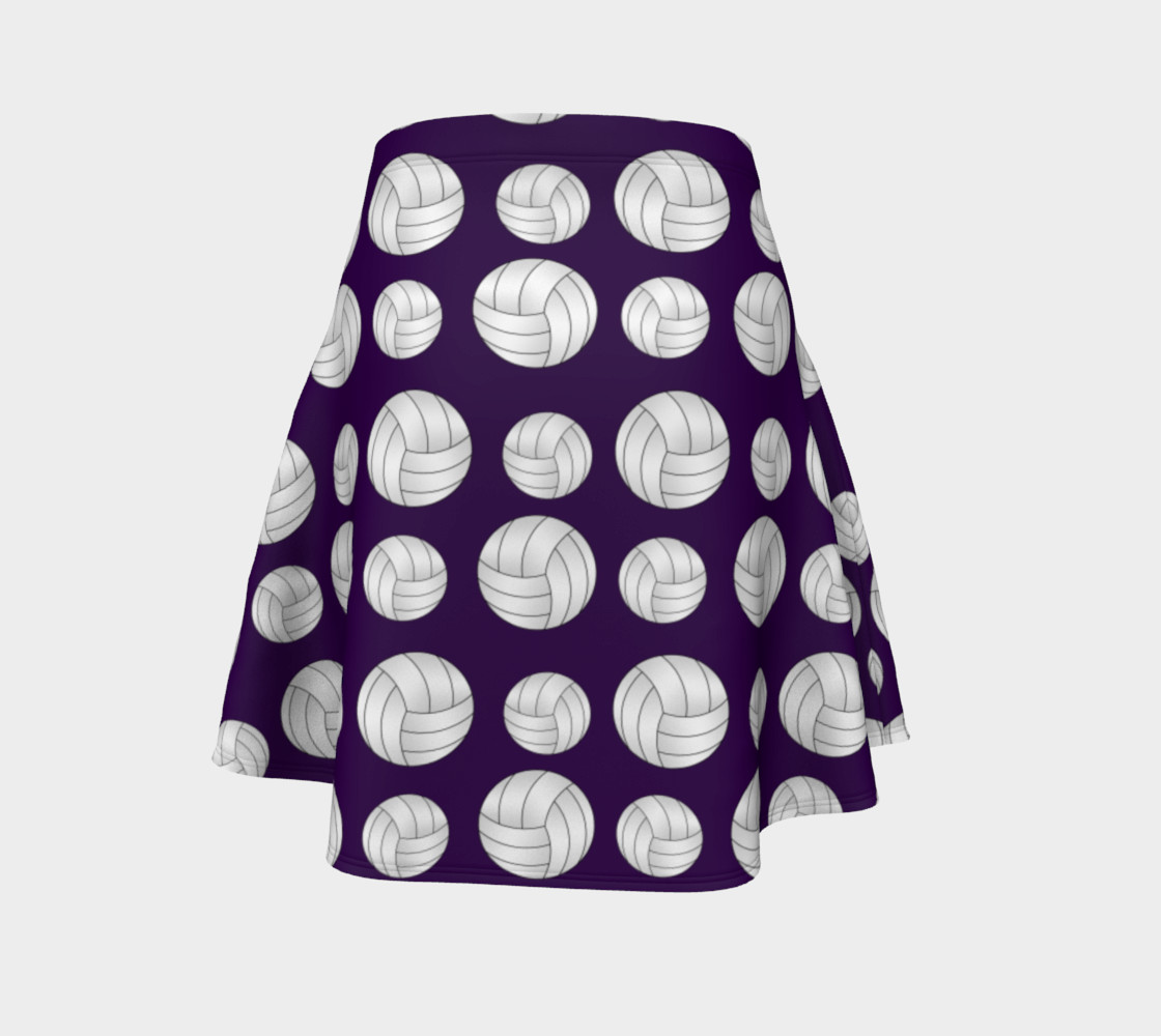 Purple volleyballs pattern skirt preview #4