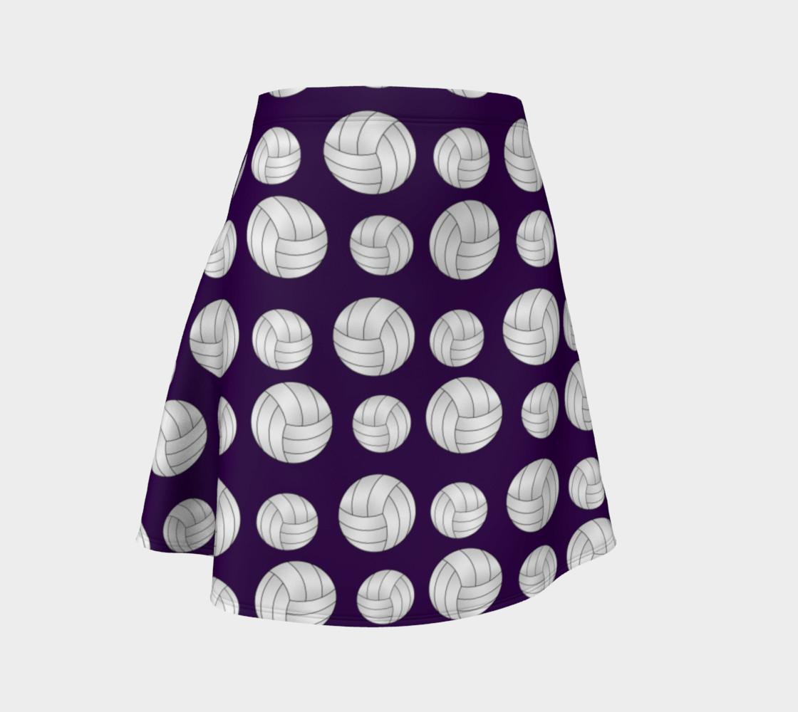 Purple volleyballs pattern skirt preview #1