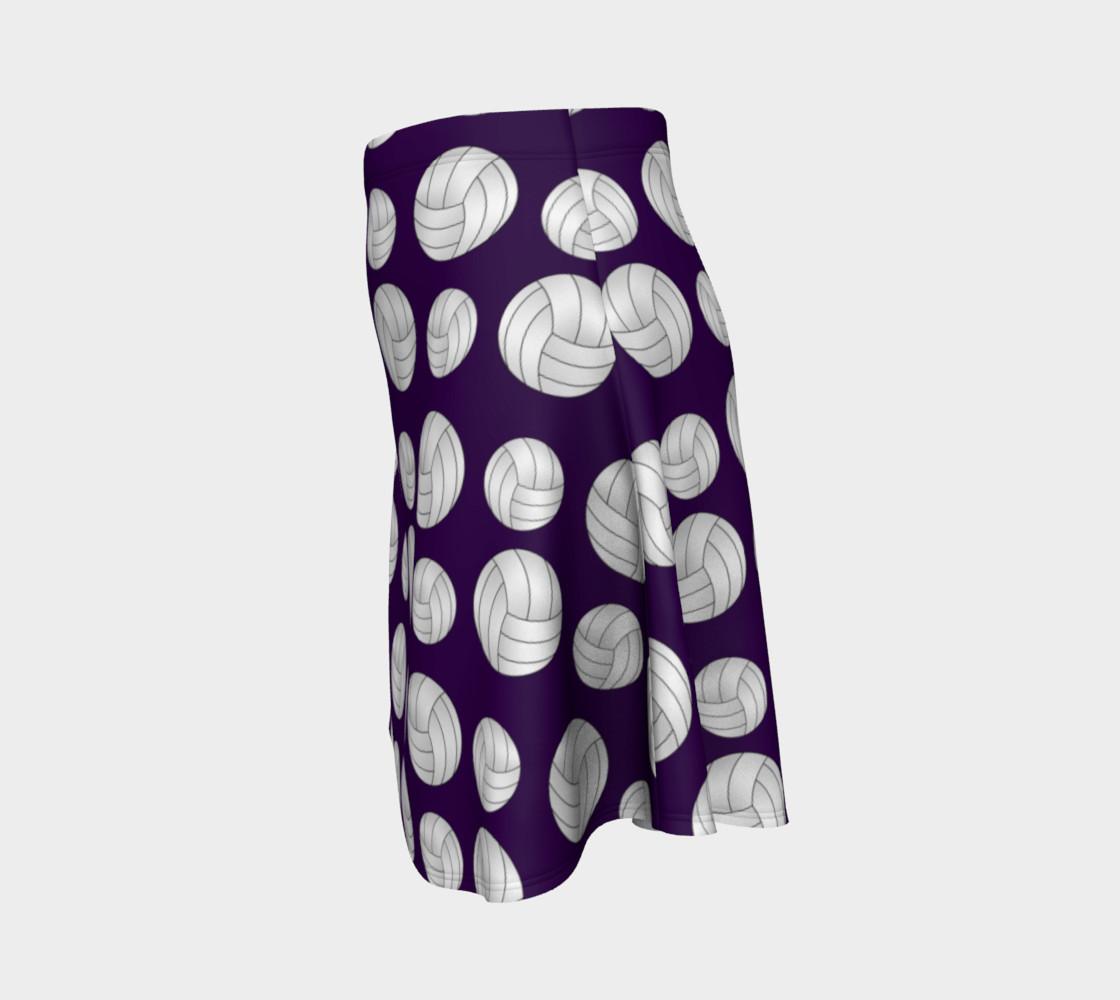 Purple volleyballs pattern skirt preview #2