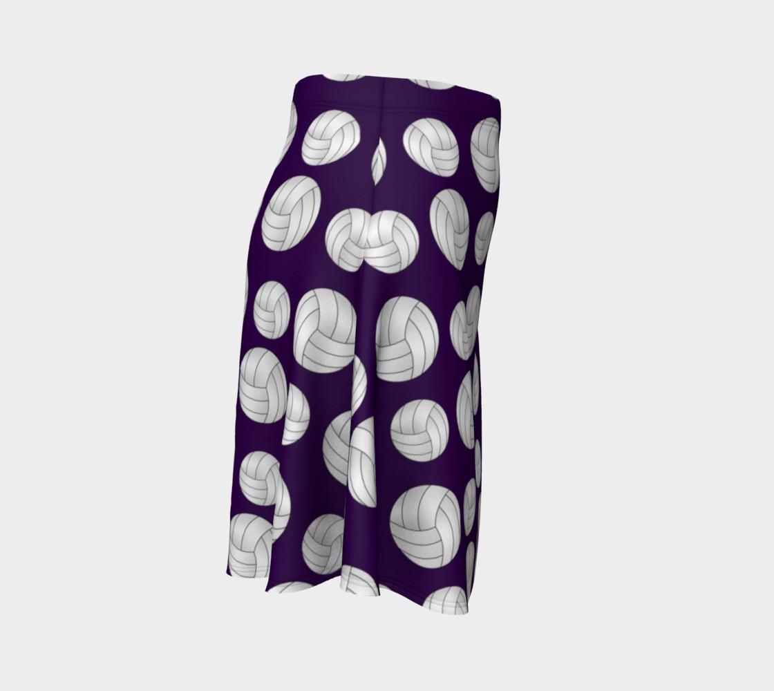 Purple volleyballs pattern skirt preview #3