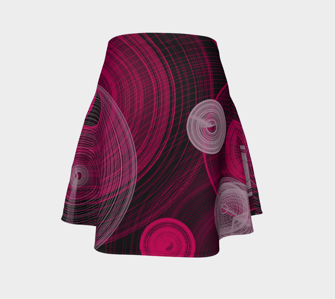 Circles Flared Skirt preview #4