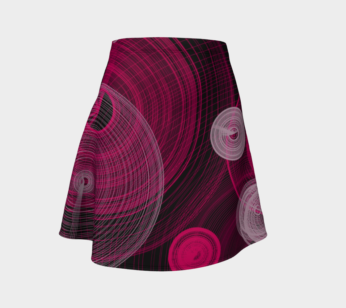 Circles Flared Skirt preview #1