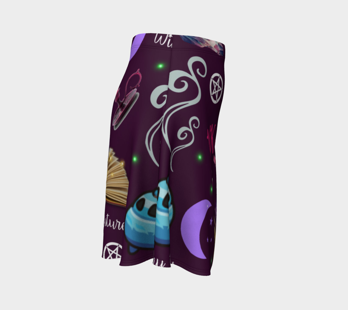 WK #ModernWitchLife Purple Print Flare Skirt preview #3