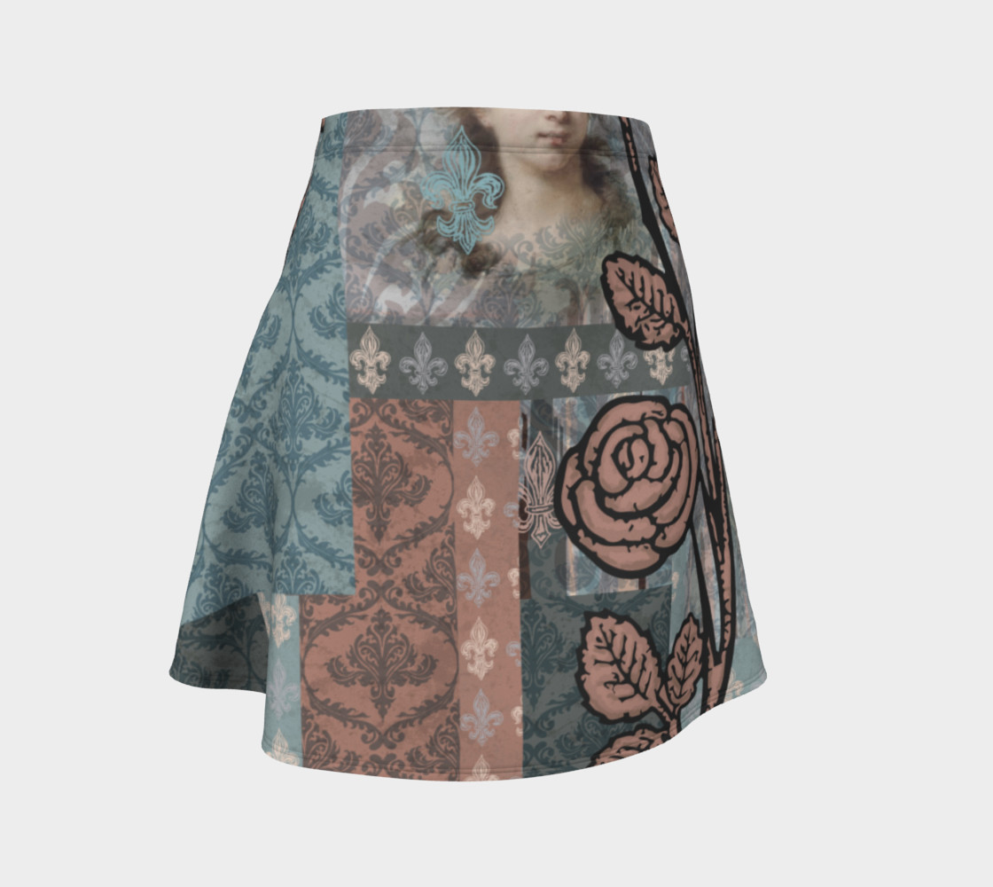 Roughly Royal Le Brun - Flare Skirt 3D preview
