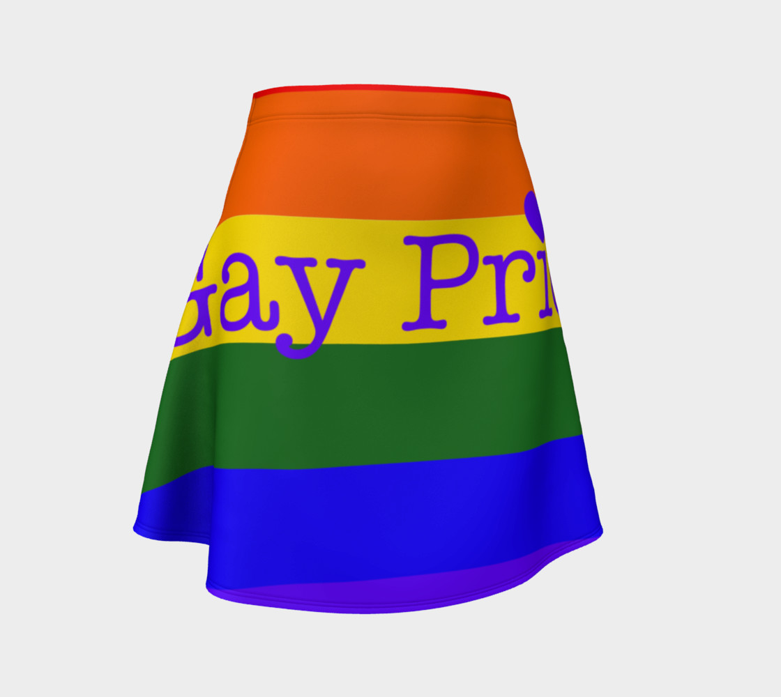 Aperçu de Gay Pride Love Flared Skirt #1