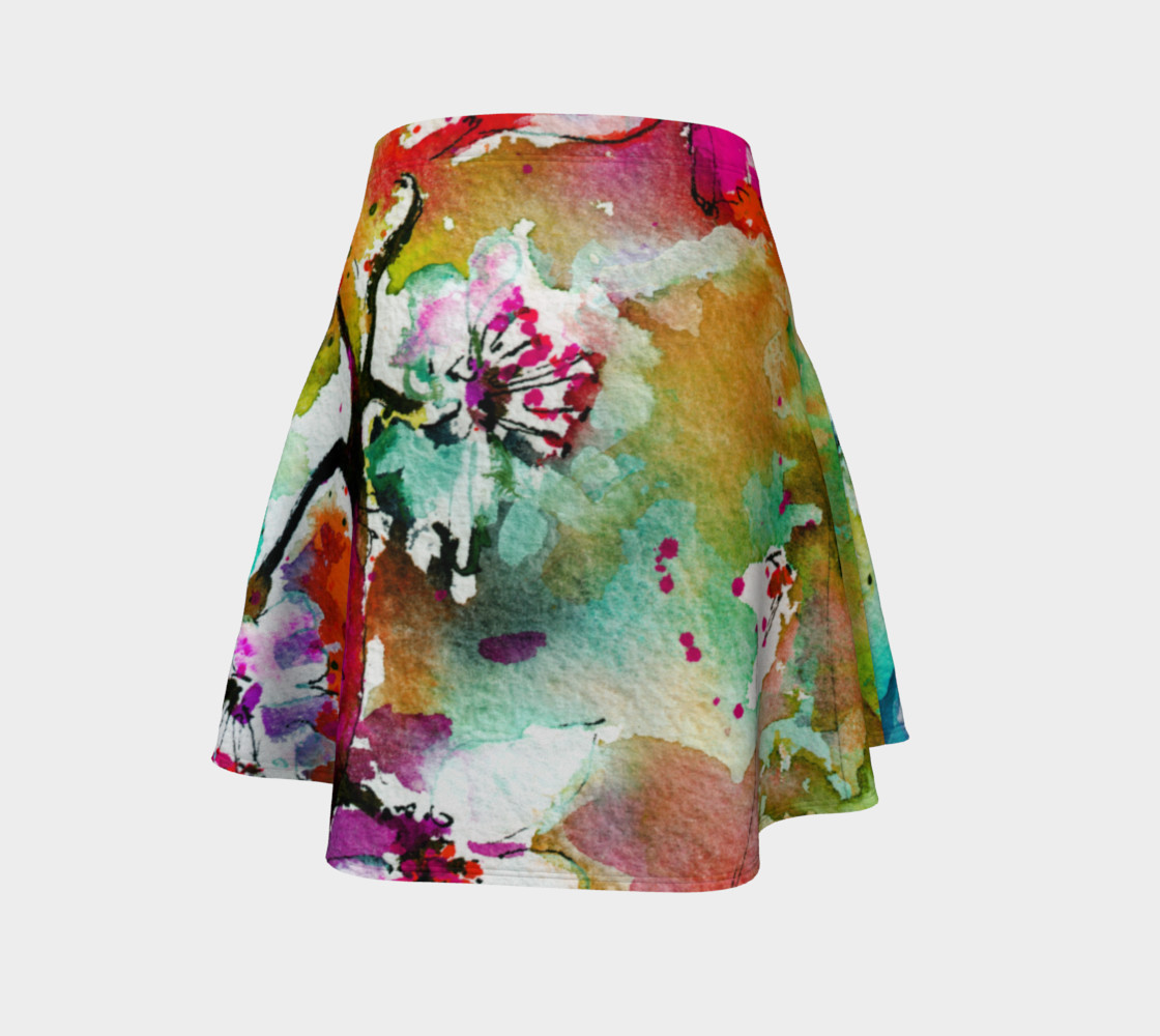 Pink Butterfly Flare Skirt preview #4