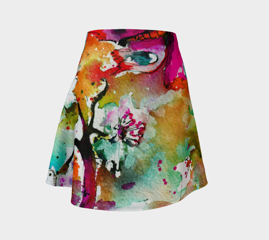 Pink Butterfly Flare Skirt preview #1