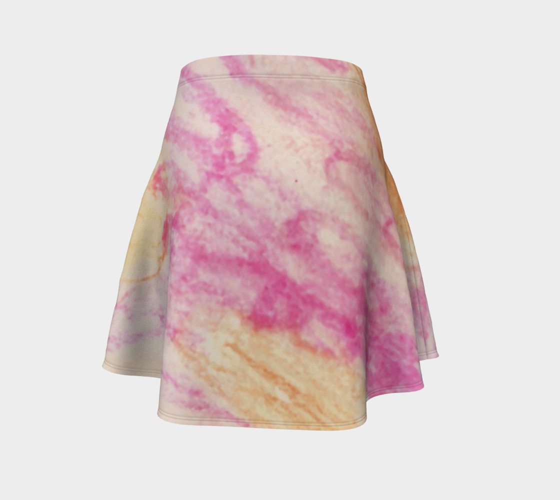 Pink Flowerets Flare Skirt preview #4