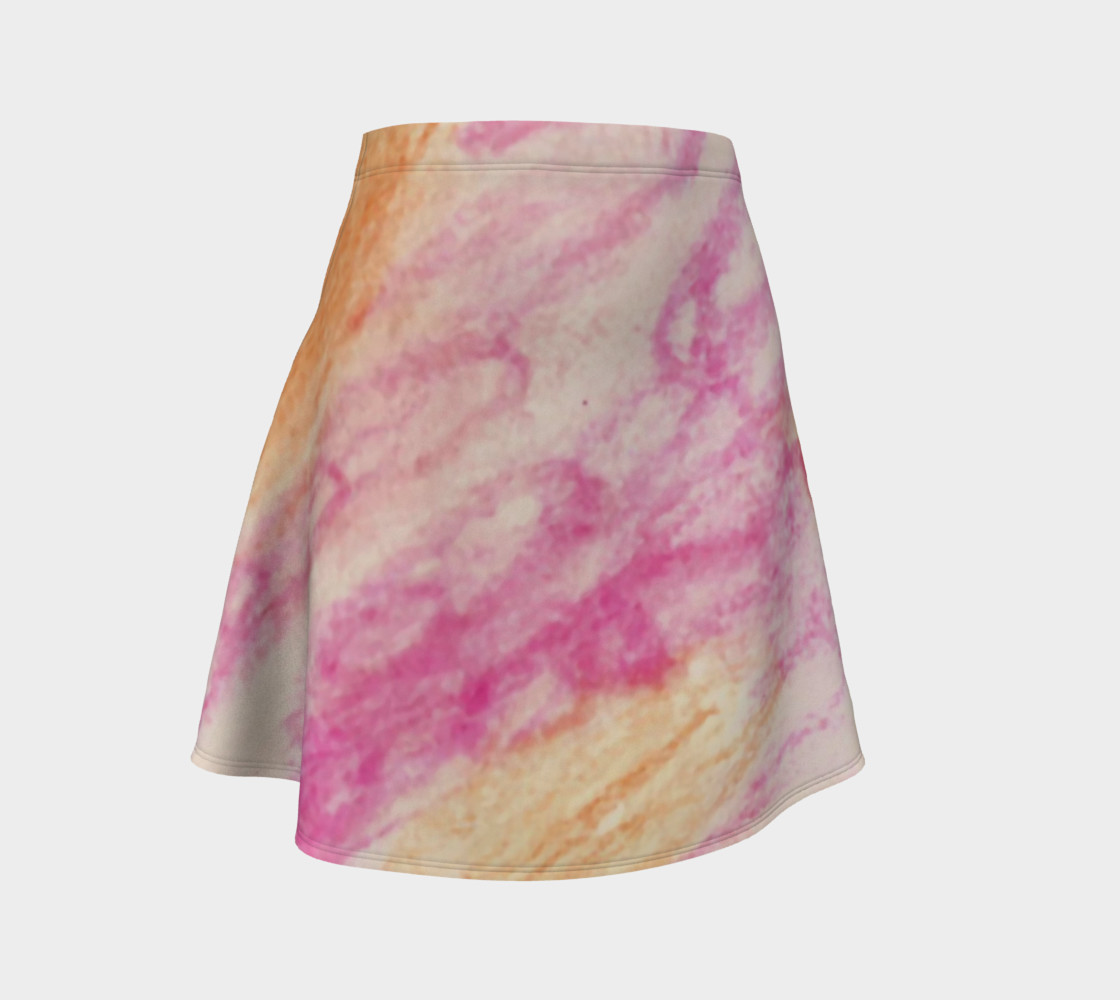 Pink Flowerets Flare Skirt preview #1