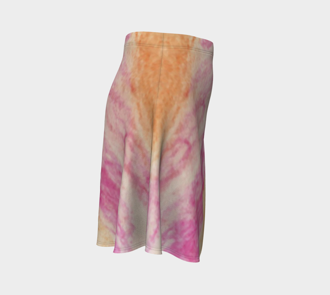 Pink Flowerets Flare Skirt preview #3